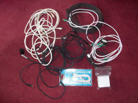 Job Lot of Cables TV Aerial Phone A Bargain at £1 the bag