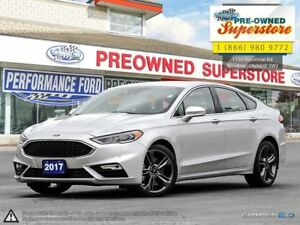 2017 Ford Fusion V6 Sport***CAP UNIT, AWD, NAV, LEATHER<<<