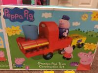 Peppa pig grandpa pig train set