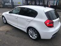 BMW 1 SERIES 116i 2007 M SPORT WHITE HPI CLEAR NOT FORD HONDA VAUXHALL NISSAN CORSA ASTRA