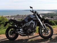 2014 YAMAHA MT 09. Superb condtion, HPI clear, price reduced & £575 worth of extras.