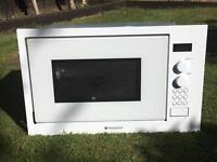Hotpoint White integrated microwave