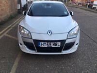 White Renault Megane coupe