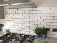 Small White Rectangle Tiles (1 metre squared)