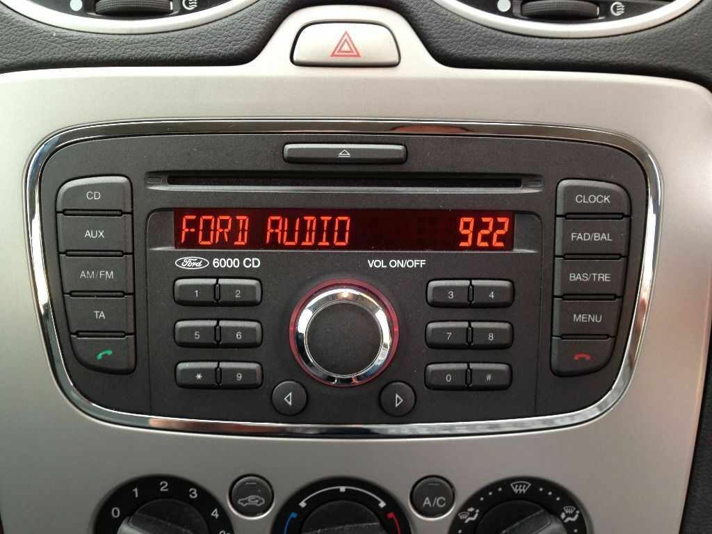 Geliefde Ford Focus or Mondeo 6000CD radio - 2008 to 2011 - with Security  QF-25