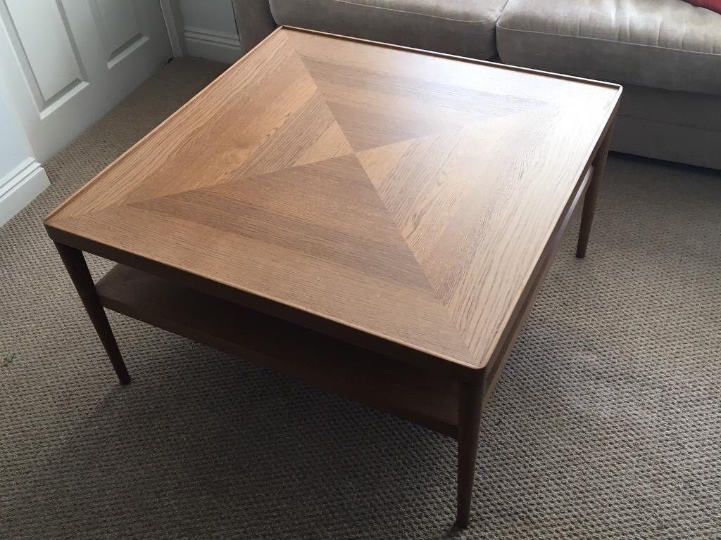 Mid Century Retro Style Ikea Stockholm Coffee Table Discontinued Teak Veneer