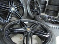 18inch RS6 BLACK alloys wheels audi bora a3 5x100 mk4 golf bbs seat vw tt beetle