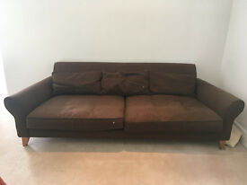 Content by Conran large brown sofa