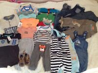 Bundle of clothes for a boy 3-6 months