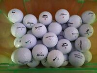 Twenty Five (25) Lightly Used Quality Golf Balls all in VGC - collection from Gosport Hampshire