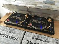 Technics SL 1200 GLD LTD Pair – Mint Condition – Fully Boxed – Pair – Ortofon Gold - Lids