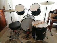 Tiger Full Size 4 Piece Drum Kit