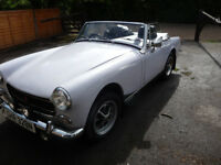 1974 MG Midget Mk III Tax and MOT free. One of last chrome bumpers/round wheel arch Midgets made.