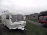 Abbey Dorset GT 2 berth touring caravan.