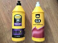 PROFESSIONAL FARECLA G3 WAX & LIQUID COMPOUND £18 each
