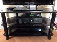 tv stand, end table, desk, computer chair, cd organizer