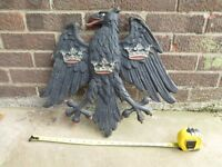 1930s Barclays Bank Painted Bronze Eagle Sign