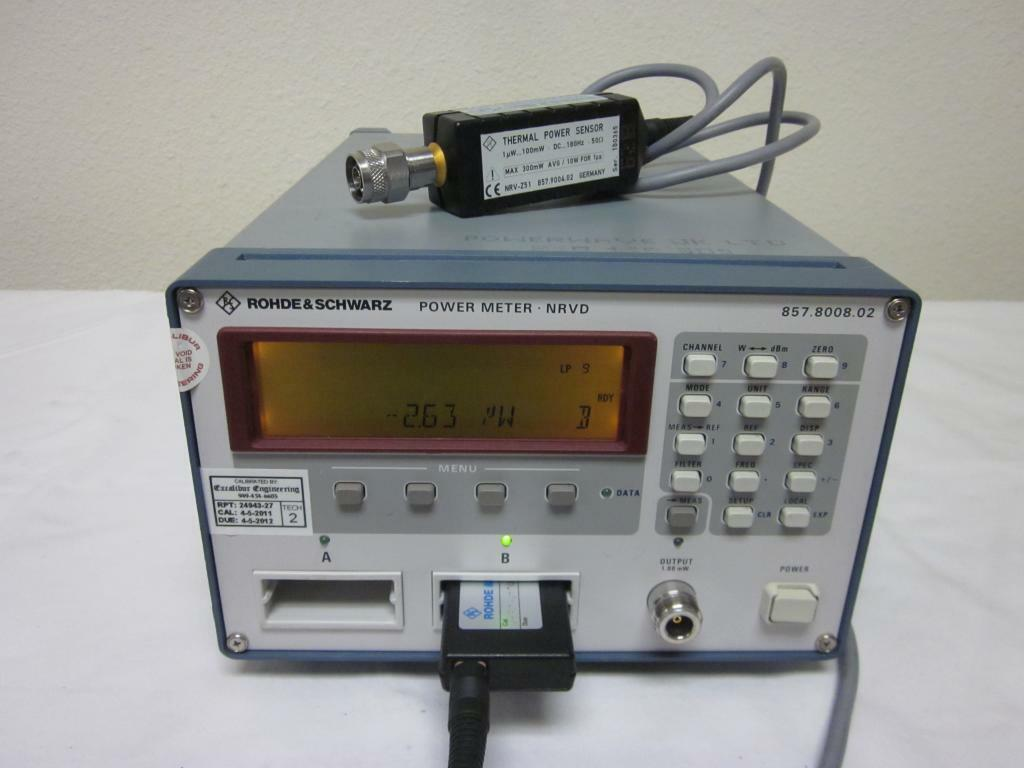 Rohde Amp Schwarz Nrvd Dual Channel Power Meter With Nrv Z51