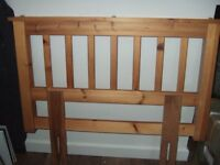 Single pine headboard. Good condition. Total width - 40 inches.