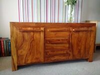 Solid Wood Sheesham Sideboard & Matching Coffee Table