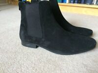 River Island suede men's chelsea boots size 9