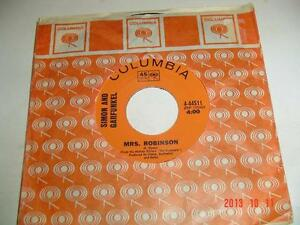"SIMON & GARFUNKEL'S 45 RPM ""MRS. ROBINSON/OLD FRIENDS/BOOKENDS"" Windsor Region Ontario image 2"