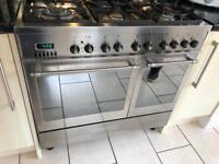Caple range double oven and Zanussi extractor van