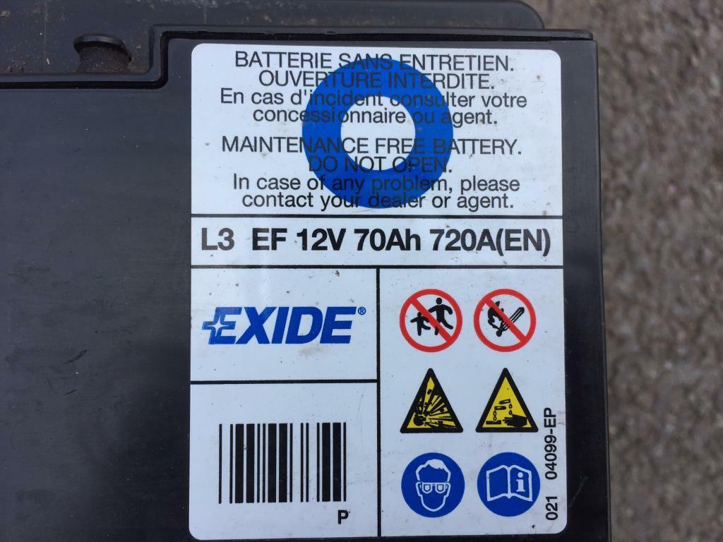 exide car battery 12v 70ah leisure battery in loughborough leicestershire gumtree. Black Bedroom Furniture Sets. Home Design Ideas