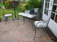 Vintage type patio set for sale with folding chairs, very rare & classy design
