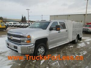 2015 chevrolet 3500 4X4, 9 Ft MILRON + HONDA AIR!!!