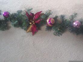 CHRISTMAS GARLAND DECORATION 6 ft long