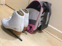 SFR Girls Hardboot Adjustable Ice Skates - Skatewareh