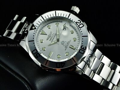 New Invicta Men 300M Grand Diver NH35A Automatic CHROME OUT High Polished Watch