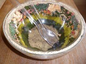 Floral Salad Bowl