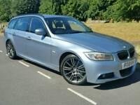 2010 BMW 318D M SPORT BUSINESS EDIT'N TOURING*FSH*SAT-NAV*LEATHER*I-DRIVE*R.TAX-£30+CHEAP INS*#AUDI
