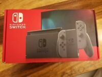 Nintendo Switch 32GB Grey improved battery 2020 console boxed in mint condition