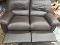 URGENT 2 seater leather recliner sofa in good condition
