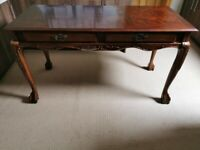 Ornate Office Desk Dark wood