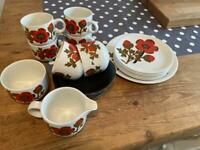 Alfred Meaking Poppy Pimpernel Tea Service