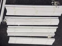 4 Ikea off white wooden Lindmon blinds