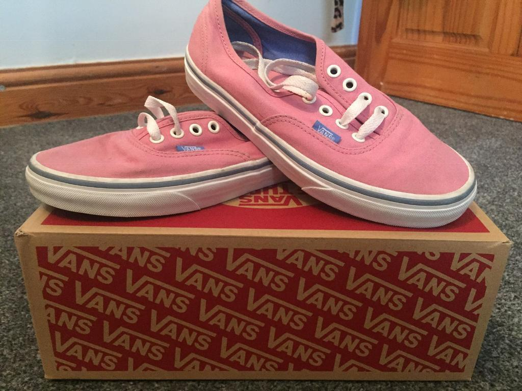 02a97530e8 Women s UK Pink Vans Size 4