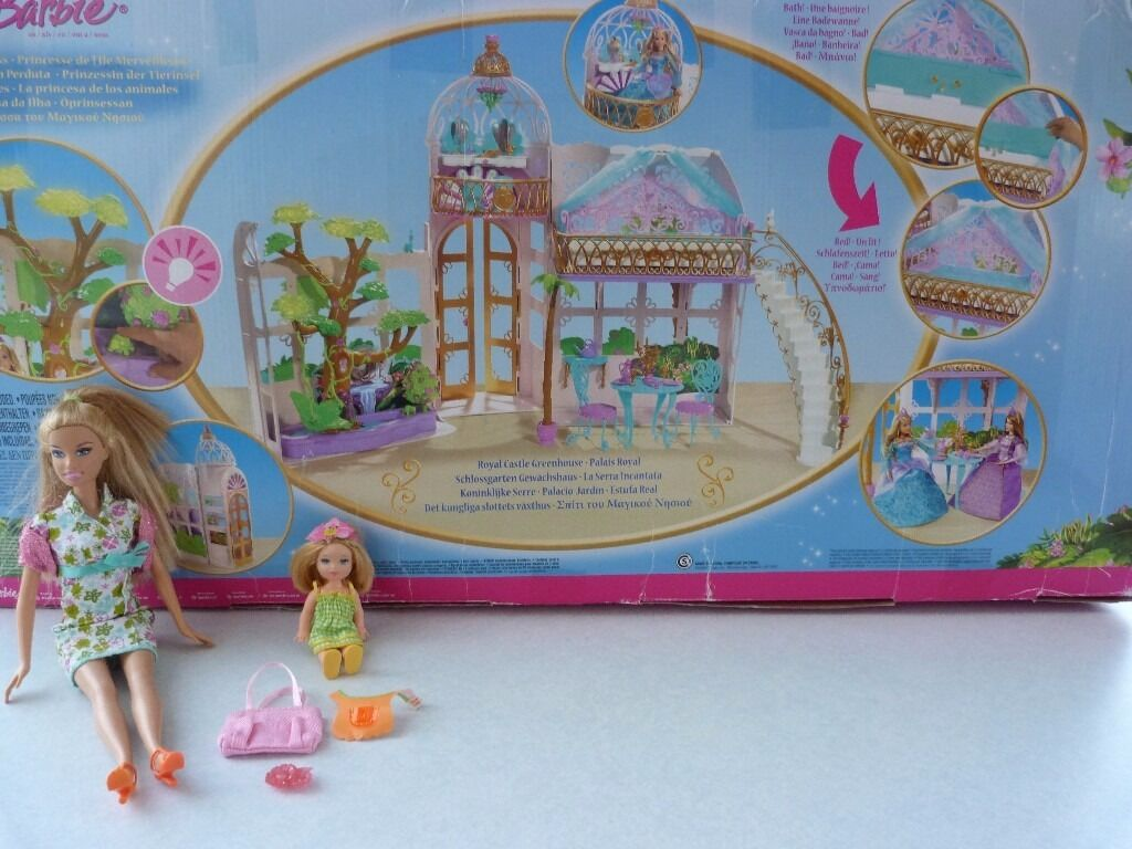 Barbie Island Princess Royal Castle Palace 2 Barbie Dolls Toy Game