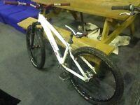White/red Azonic Hardtail Jump Bike