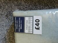 NEW Dunelm Sage Luna Blackout Eyelet curtains ( pair ) I have 3 packets.