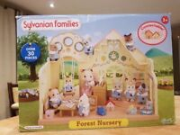 Sylvanian Families Forest Nursery In Box Excellent Condition with beautiful figures and accessories