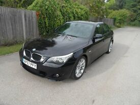 BMW 520d M-Sport Diesel 6 speed, 2007/57 ,black with half-leather m-sport interior,i-drive s/history