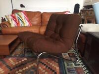 Retro chrome lounge chair
