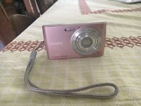 Sony cyber shot pink camera
