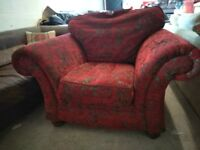 Quality red fabric Armchair Chair Delivery Poss