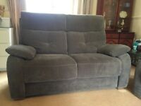 2 Seater Sofa, Grey, high backed excellent condition
